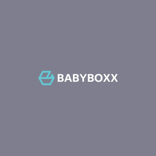 baby trolley + letter B in hexagon