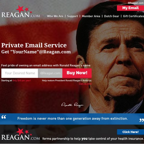 Website Design for Ronald Reagan (Reagan.com )
