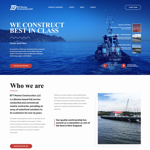 New design for marine construction company
