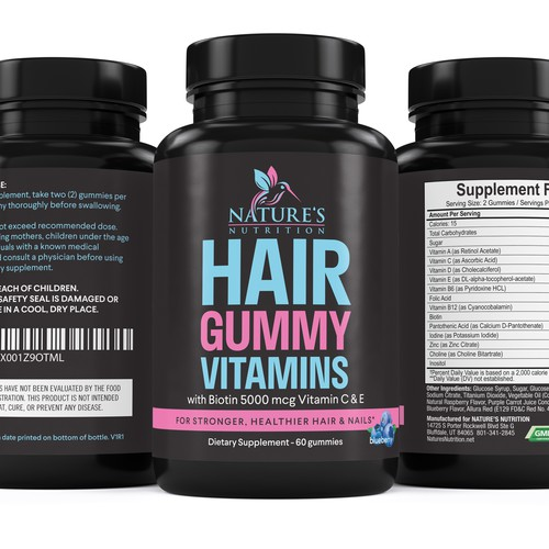 Nature's Nutrition needs a Gummy Vitamins black label