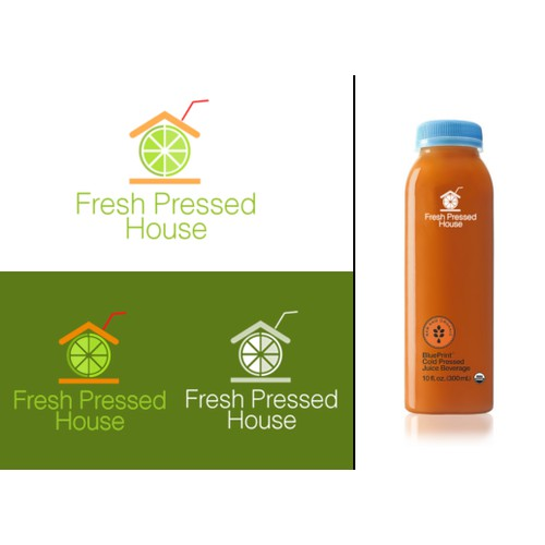 Create a fresh clean logo for an organic cold-pressed juicery in Italy!