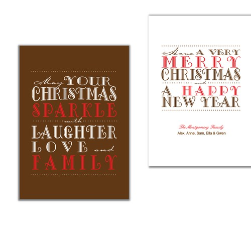 "Picaboo 5""x 7""折叠的节日/圣诞卡片(最多可授予25种设计!)"