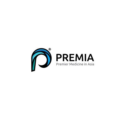 cool logo concept for premia