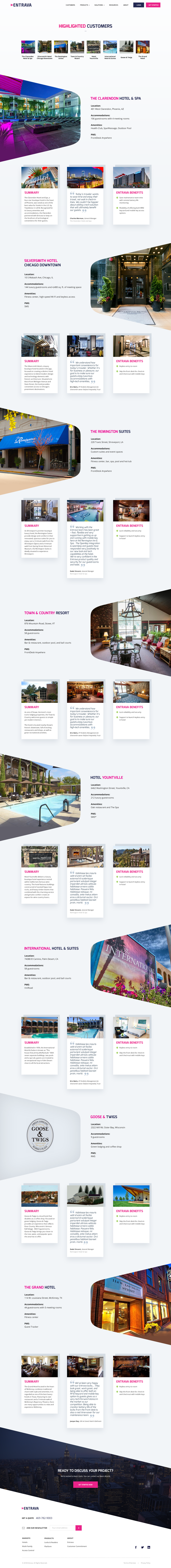 Entrava Customer Pages (case study)