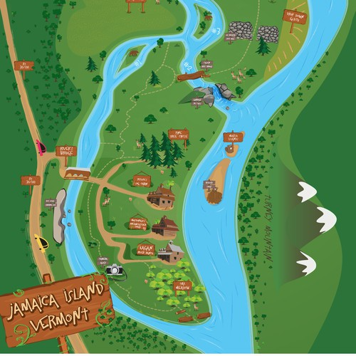 Vermont Island Trail Map