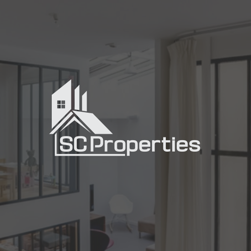 Simple creative logo for SCProperties