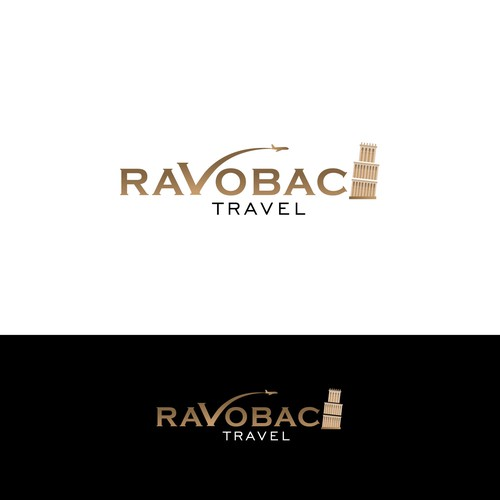 Conceptual logo for  Luxury Travel Agency
