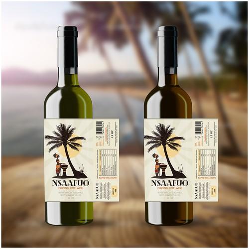 Label design for palm wine