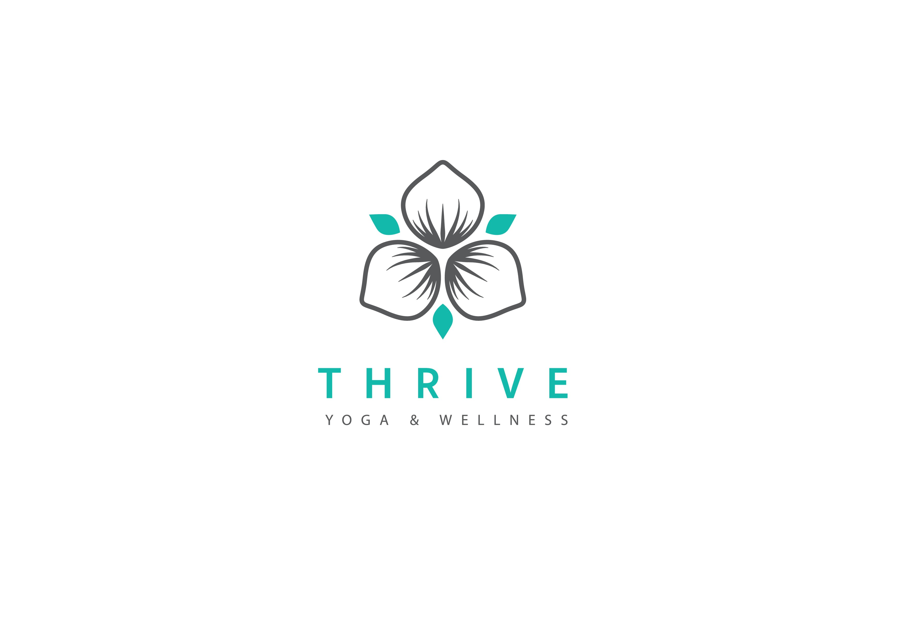 Create a logo for quickly growing Thrive Yoga & Wellness