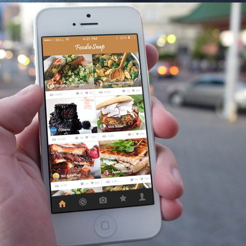 INTERACTIVE INSTAGRAM STYLE PLATFORM FOR FOOD LOVERS