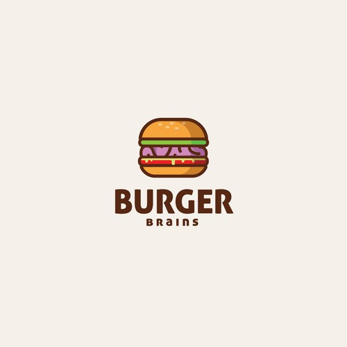 delicious logo for concept for Burger brains.