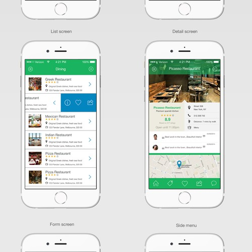 """Wayyak"" mobile app new design"