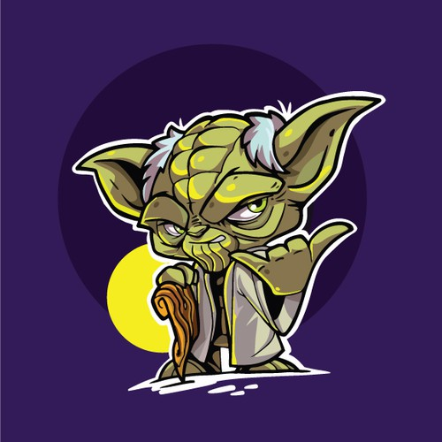 Star Wars character Yoda do shaka
