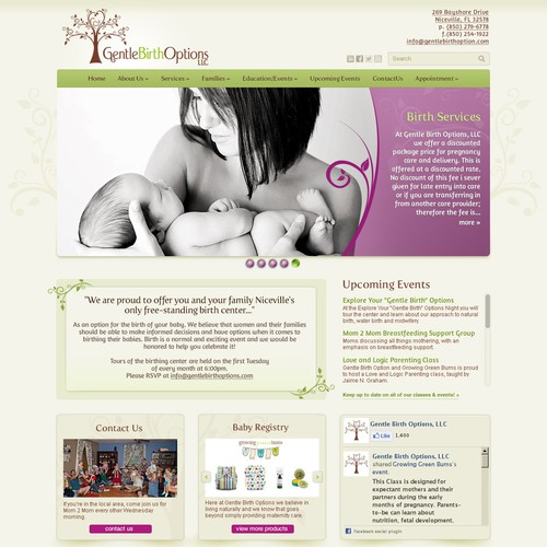 Help Gentle Birth Options with a new website design