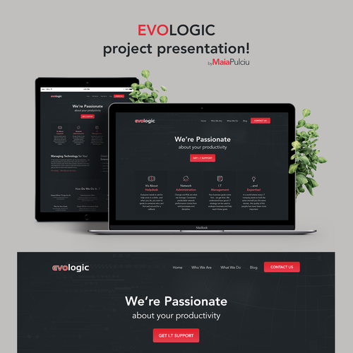 Evologic IT Website Design
