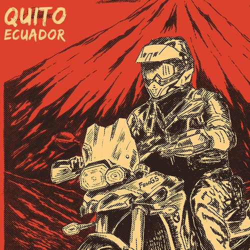 Motorcycle Adventure T-Shirt for Ecuador Freedom Bike Rental