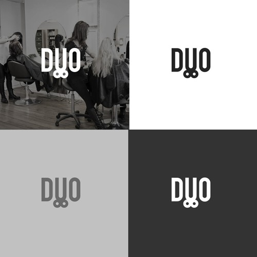Bold Logo For Duo Hairstyle