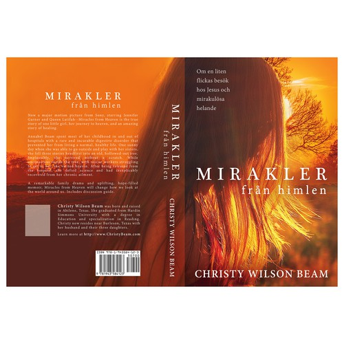"Book cover for ""Mirakler från himlen"" (Miracles from heaven)"