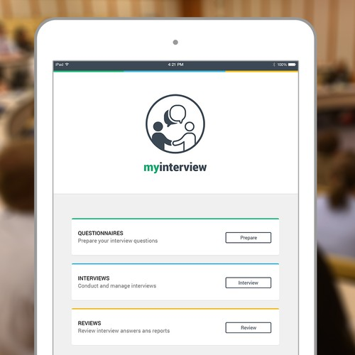 iPad app for interview management