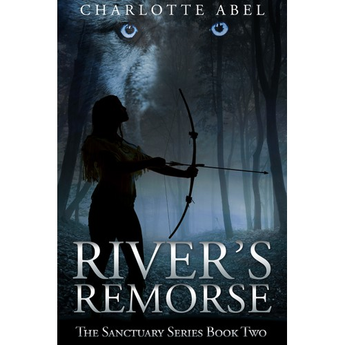 Design book cover for Charlotte Abel's sequel: River's Remorse