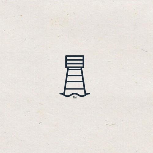 Create a clean, classic logo for a premium beach towel company