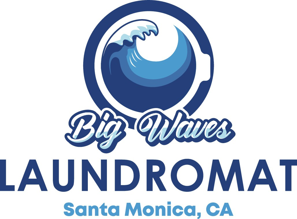 Design a clean logo for a laundromat in Los Angeles with a surf vibe