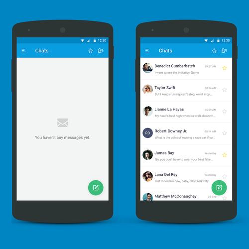 Simple chat design for messenger app