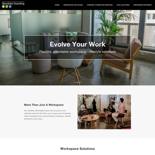 Website Redesign For Office & Coworking Space