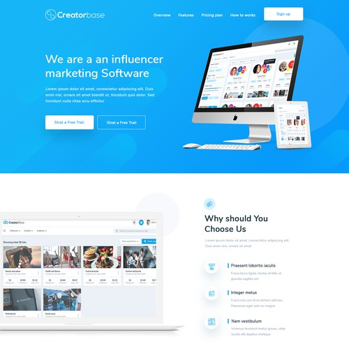 a website for leading Influencer Marketing platform