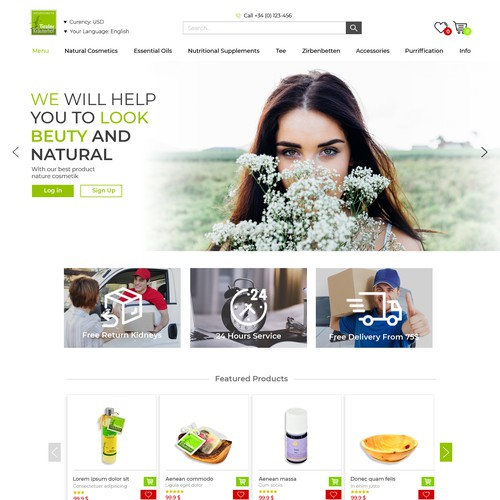 Website design for cosmetic