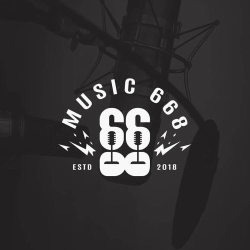 668 Music Logo Design