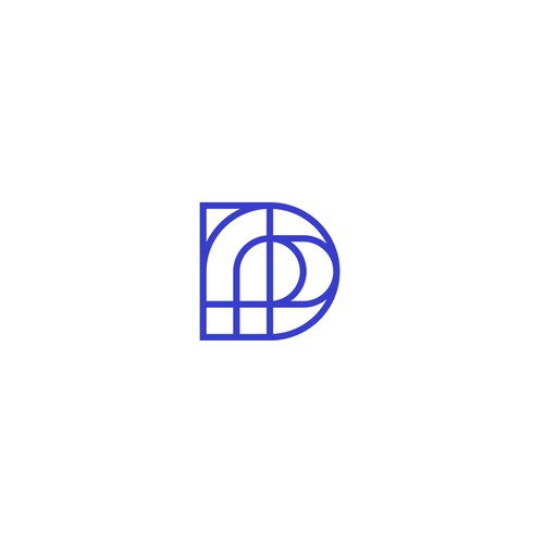 Abstract and geometric monogram