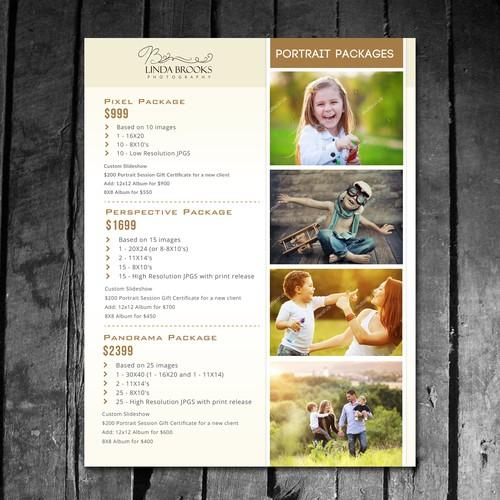 flyer design for linda brooks photography
