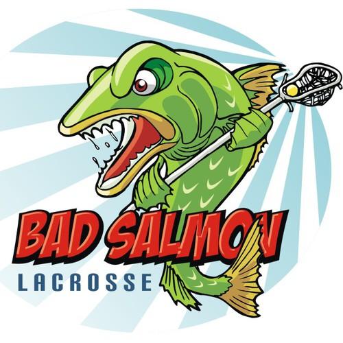 Create the next illustration for BadFish Lacrosse