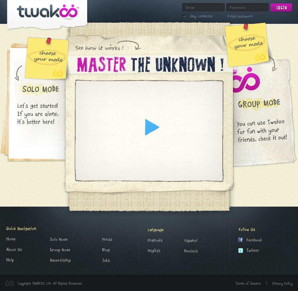 New website design wanted for twakoo
