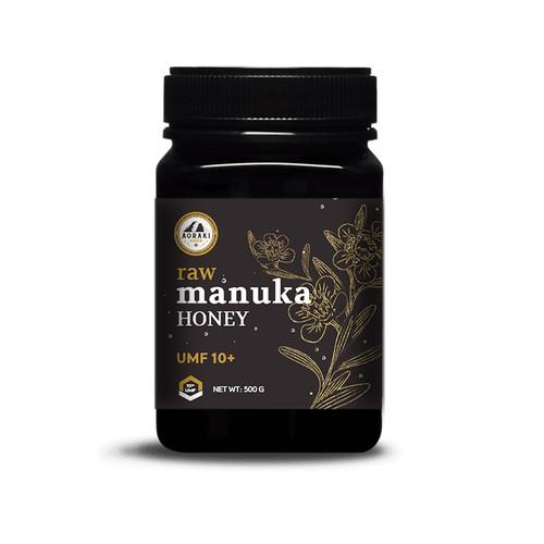 Design concept for the Manuka Honey label