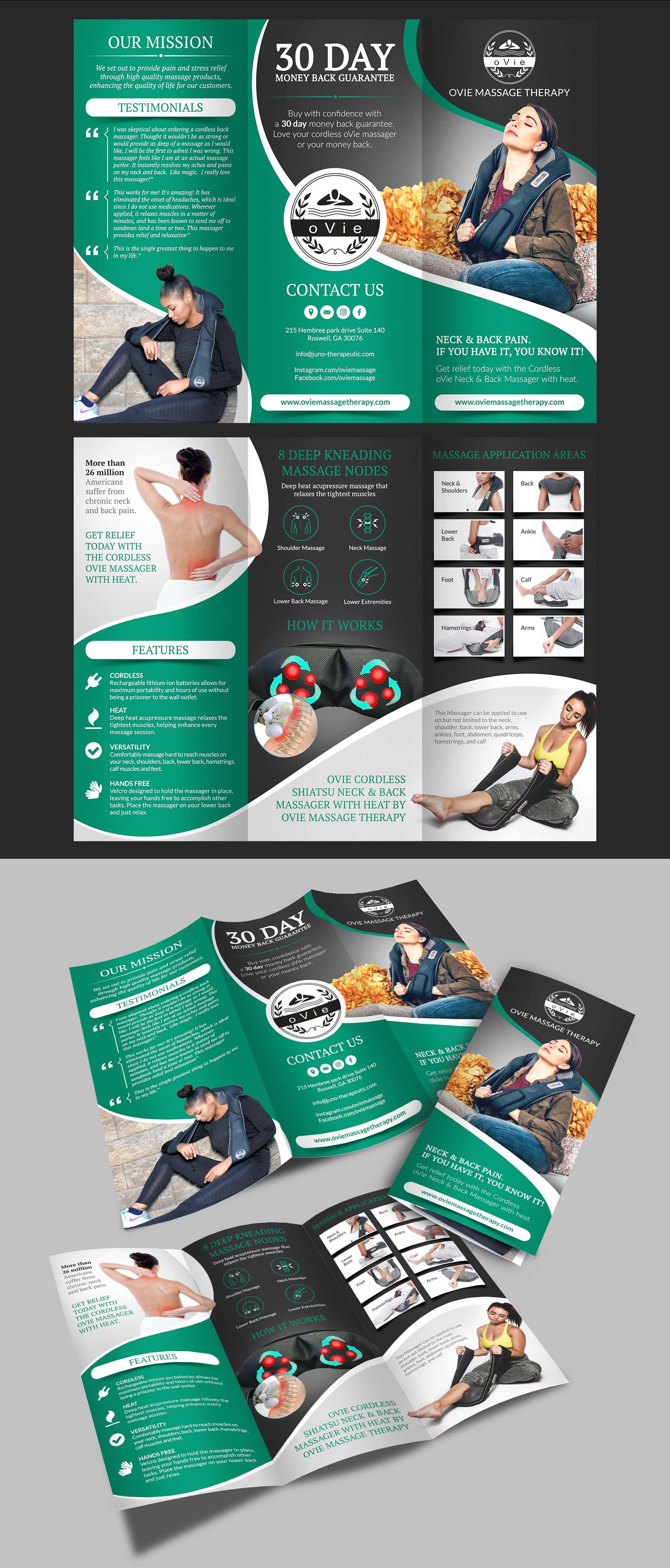 Ovie massage therapy brochure
