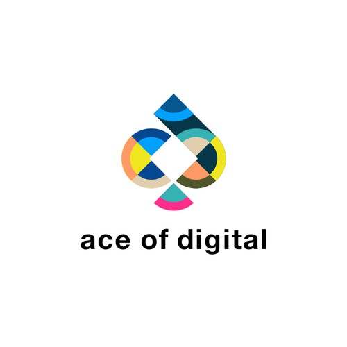 Logo concept for ace of digital