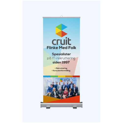 concept Cruit needs a rollup illustration for the ICT exhibition Norway 2018