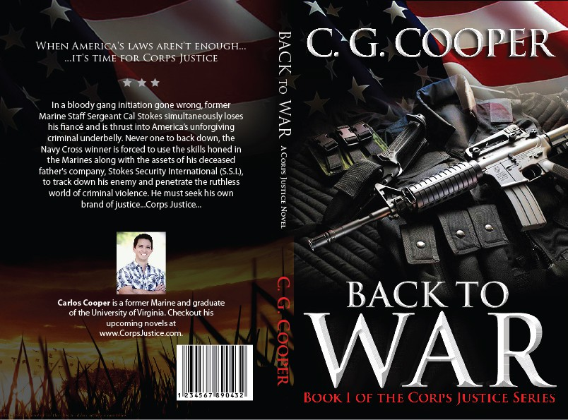 Back to War: Book 1 in the Corps Justice Series BOOK COVER DESIGN