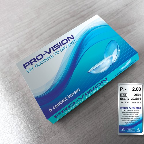 Product box for contact lenses