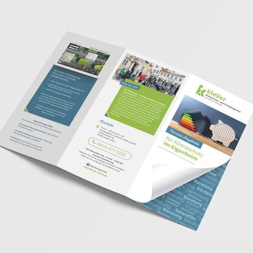 Flyer für Energieagentur, Zielgruppe Eigenheimbesitzer