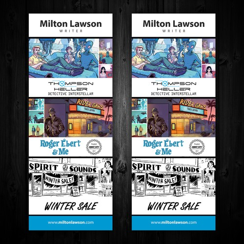 Milton Lawson Writer Roll Up Banner