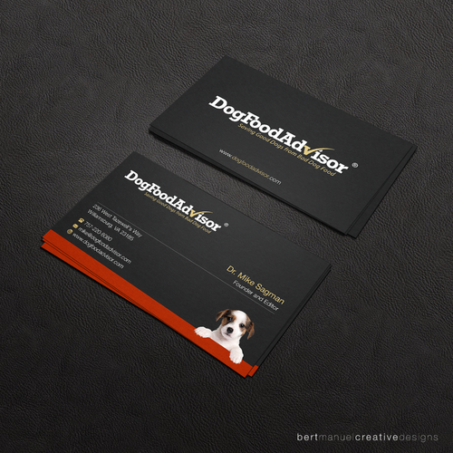 Dog Food Advisor Business Card