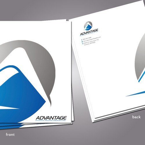 Advantage Orthopedic and Sports Medicine Clinic needs a new stationery