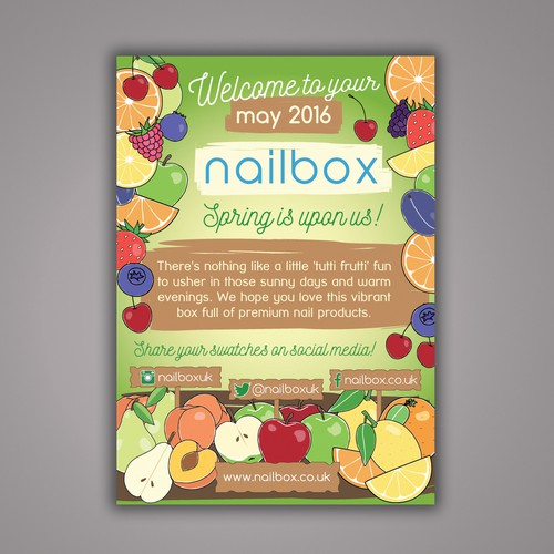 Flyer for beauty subscription box