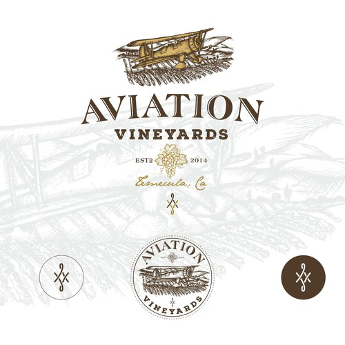 Aviation Vineyards logo design