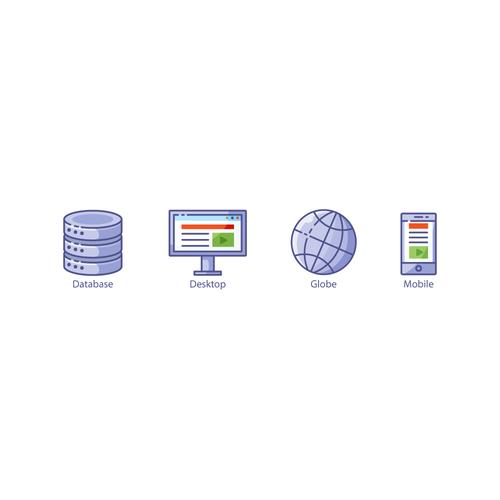Sample icons for developer website
