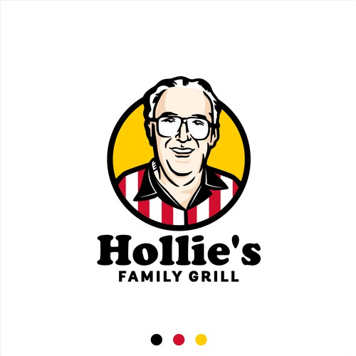 Logo concept for Hollie's Family Grill
