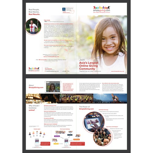 Help us create change for good! Design a short, inspiring brochure for online giving company